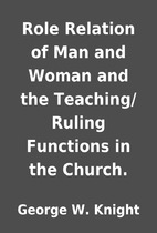 Role Relation of Man and Woman and the…