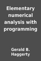 Elementary numerical analysis with…