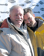 "Author photo. Armistead Maupin (left) at the Sundance Film Festival, 2006. Photo by <a href=""http://www.flickr.com/people/tyreseus/"">Jere</a>"