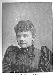 Author photo. Mary Alicia Owen (b.1858), Buffalo Electrotype and Engraving Co., Buffalo, N.Y.