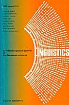 Linguistics 21 (1983) 6: 759-925