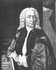 Author photo. Copperplate by Christian Nikolaus Eberlein, c. 1750