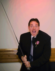 Author photo. Taken by the author's brother in law at his wedding; he hopes it is not too silly.