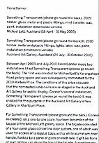 Fiona Connor: Something Transparent (please…