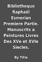 Bibliotheque Raphaël Esmerian Premiere…