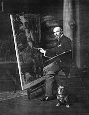 Author photo. Self-portrait. (JW Waterhouse, d. 1917)