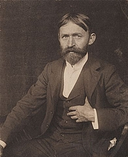 Author photo. John Henry Twachtman, American impressionist painter. Photographer Gertrude Stanton Kasebier