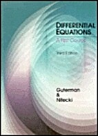 Differential Equations: A First Course,…