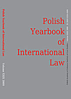 Polish Yearbook of International Law, Volume…