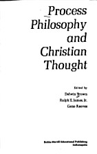 Process Philosophy and Christian Thought by…