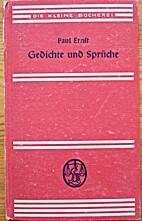 Gedichte und Sprüche by Paul Ernst
