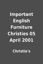 Important English Furniture Christies 05…