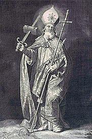 Author photo. Saint Boniface / By Cornelis Bloemaert, c. 1630.