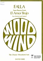 Two pieces from El Amor Brujo for clarinet…