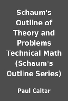 Schaum's Outline of Theory and Problems…