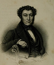 Author photo. Frederick Chamier. From frontispiece of The spitfire : a nautical romance (1840)