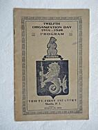 Twelfth Organization Day, 1916-1928 Program,…