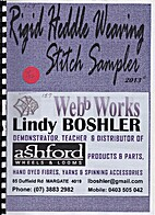 Rigid heddle weaving stitch sampler by Lindy…