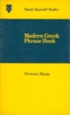 Teach Yourself Modern Greek Phrase Book by…