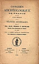 France: 1891, 58e Congrès archéologique de…