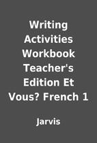 Writing Activities Workbook Teacher's…