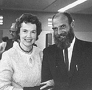 Author photo. Eleanor Frances Cameron with Leonard Wibberley