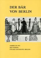Der Bär von Berlin. Jahrbuch 1992 des…