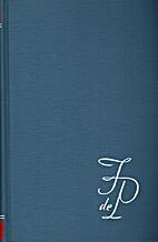 Scheppend proza 1 by Filip de Pillecyn