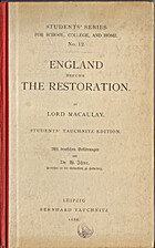 England before the Restoration by Lord…