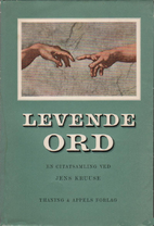 Levende ord by Jens Kruuse