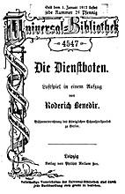 Die Dienstboten : Lustspiel in 1 Akt by…