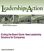 Ending the Board Game: New Leadership…