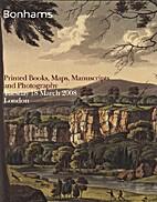 Printed Books, Maps, Manuscripts and…