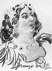 Author photo. Speranza (Lady Wilde), attributed to George Morosini. Wikimedia Commons.
