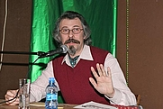 Author photo. Steiner delivering a public lecture in Moscow