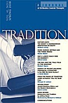 Tradition Journal (Vol 40, No 4) by Shalom…