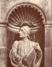 Author photo. Bust by Andrea Ferrucci (at Florence Cathedral)
