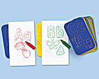 Learn the Alphabet Rubbing Plates by…