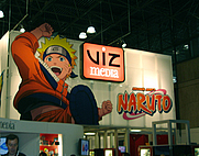 Author photo. Viz Media booth at International Licensing Show 2005, New York, photo by Lampbane