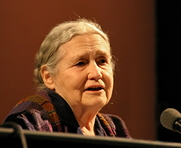 Author photo. Doris Lessing at lit.cologne, Cologne literature festival 2006, Germany [credit: Elke Wetzig]