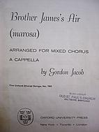 Brother James's Air (Marosa) by Gordon Jacob