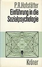 Einführung in die Sozialpsychologie by…