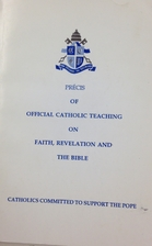 PRECIS OF OFFICIAL CATHOLIC TEACHING ON…