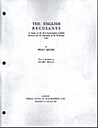 The English Recusants: A Study of the…
