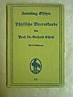Physische Meereskunde by Gerhard Schott
