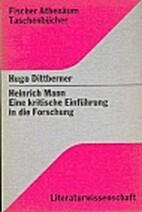 Heinrich Mann : eine kritische Einführung…