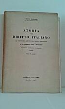 Storia del diritto italiano - Le fonti del…
