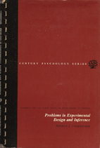 Problems in experimental design and…