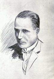 Author photo. Image from <b><i>Summer 1917, and other verses</i></b> (1917) by E. Temple Thurston