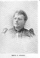 Author photo. Emma P. Ewing (b.1838) Buffalo Electrotype and Engraving Co., Buffalo, N.Y.